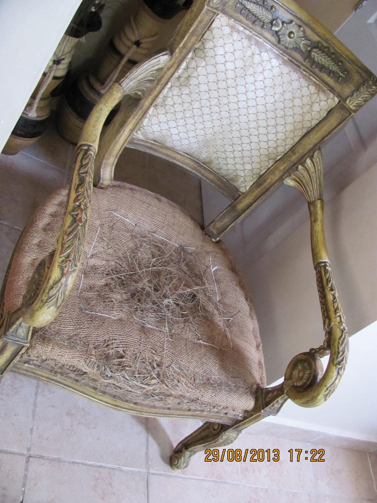 Hobby love it by olga leal como tapizar una silla - Relleno para sillas ...