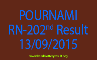POURNAMI RN 202 Lottery Result 13-9-2015