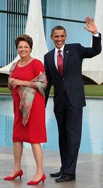 Dilma Rousseff & Barack Obama in Brasília.