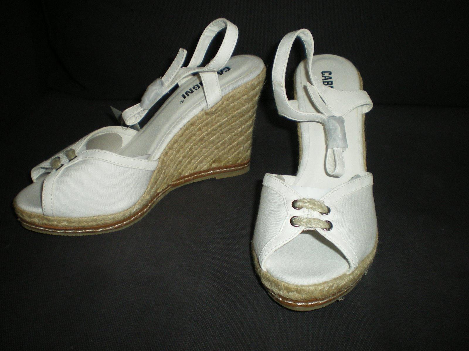 topdressing sandales espadrilles compens es blanches neuves 38 27 fpc. Black Bedroom Furniture Sets. Home Design Ideas