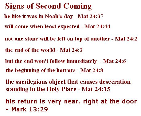Signs of future coming of jesus the christ oh life all life signs of future coming of jesus the christ thecheapjerseys Choice Image