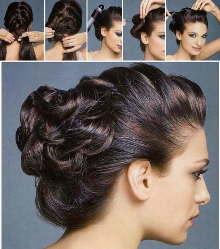 Прически на средние волосы своими руками фото с челкой