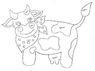 vaca com lenço no pescoço