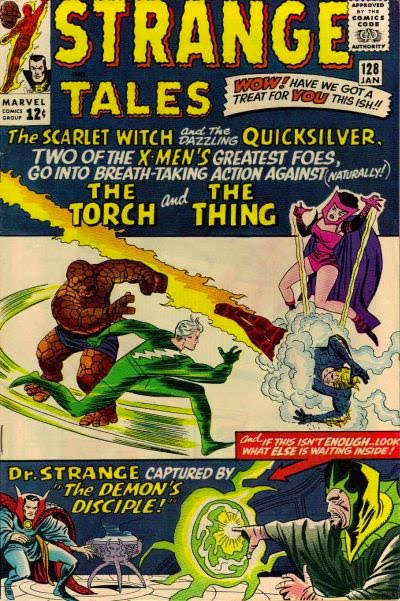 Strange Tales #128, the Thing and the Human Torch
