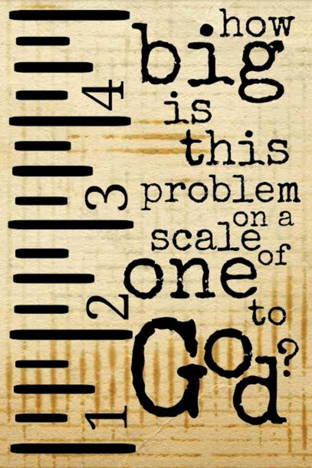 It's just an image of Challenger How Big is My Problem Printable