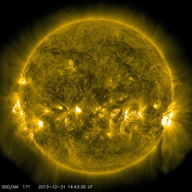Imagem do sol em 2013