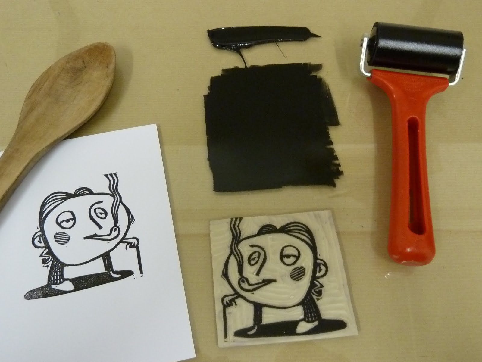 how to clean lino printmaking cutting tools