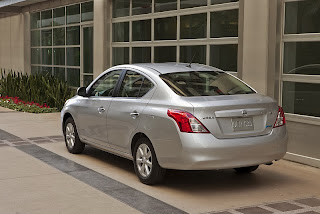 2012 Nissan Versa Sedan with dynamic proportions