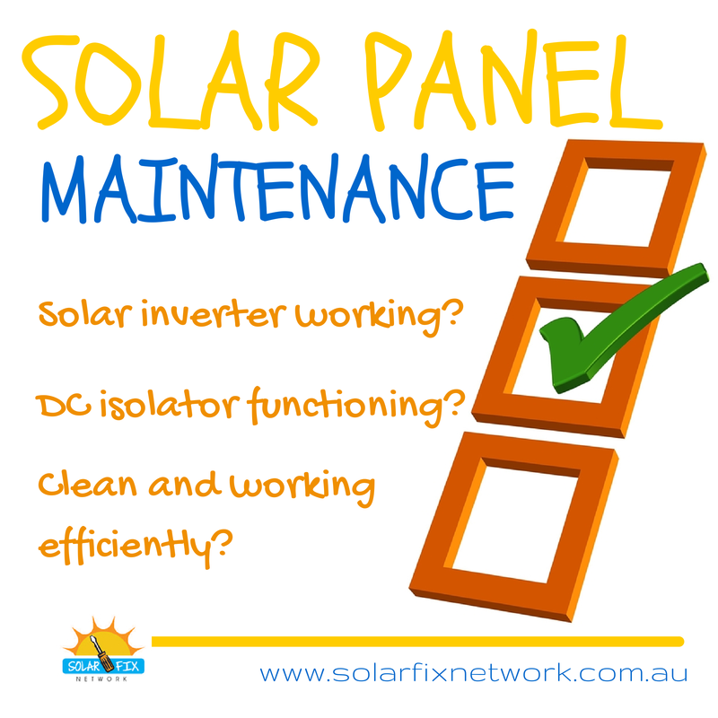 Solar Fix Network clean, inspect and maintain solar panels in Adelaide
