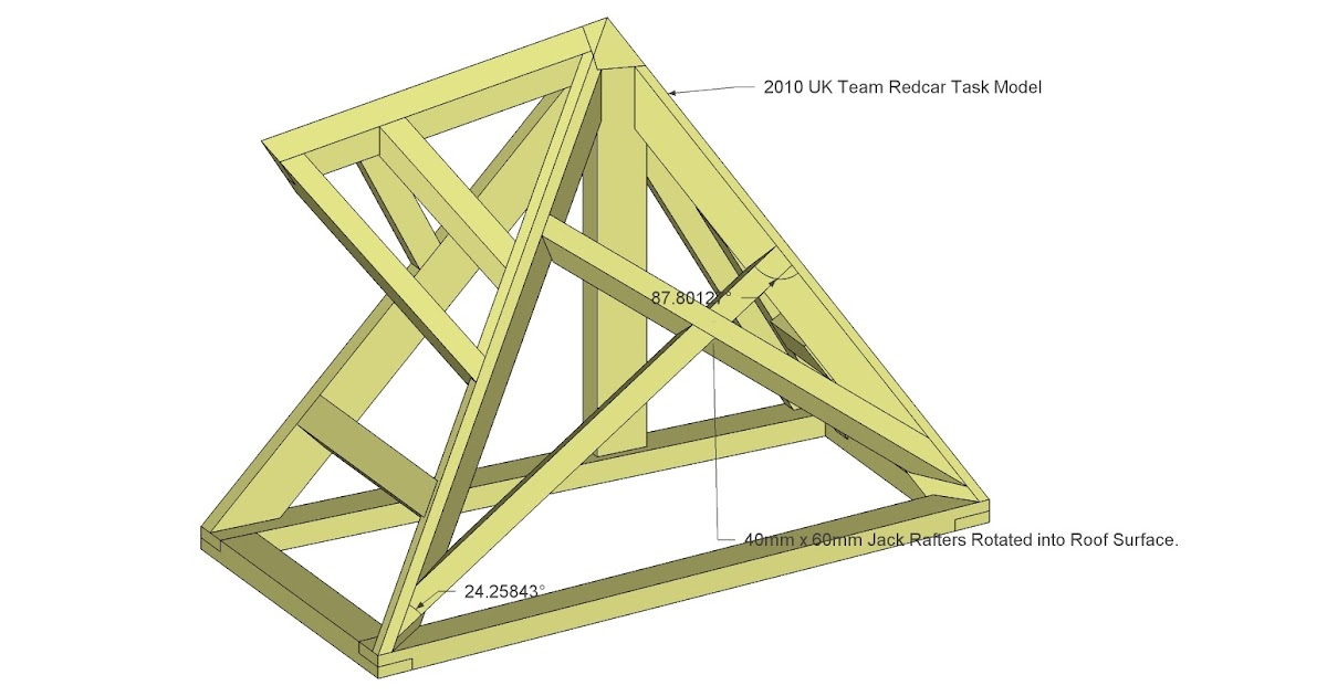 Roof framing geometry 2010 uk team redcar for Roof drawing app