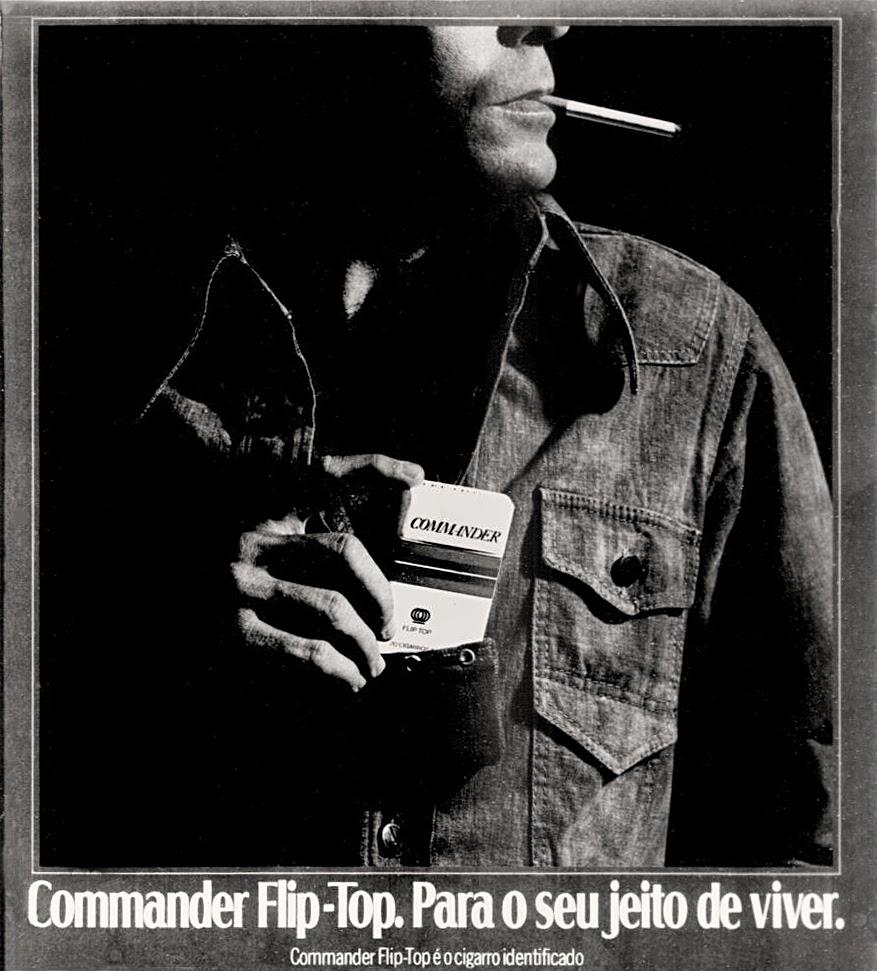 commander. propaganda anos 70; história decada de 70; reclame anos 70; propaganda cigarros anos 70; Brazil in the 70s; Oswaldo Hernandez;
