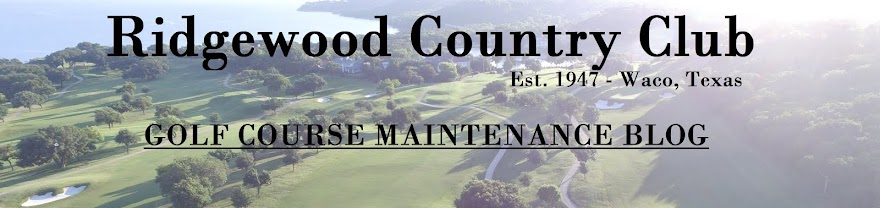 RCC Golf Course Maintenance Blog