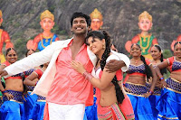 Actress Anjali and Vishal cute in Madha Gaja Raja Song