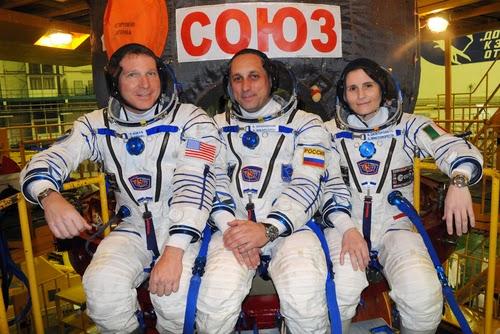 Terry W. Virts, Anton Shkaplerov, Samantha Cristoforetti