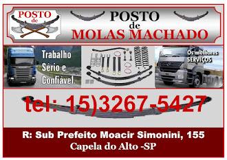 POSTO DE MOLAS         MACHADO  R: Sub Prefeito Moacir Simonini, 155 Capela do Alto - SP tel: 15