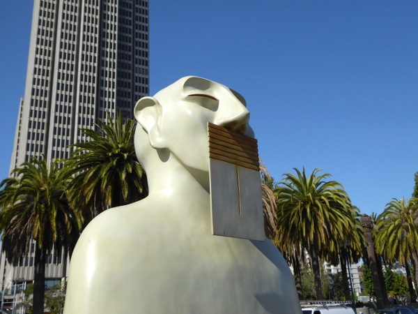 Our Silence Rivelino sculpture Embarcadero