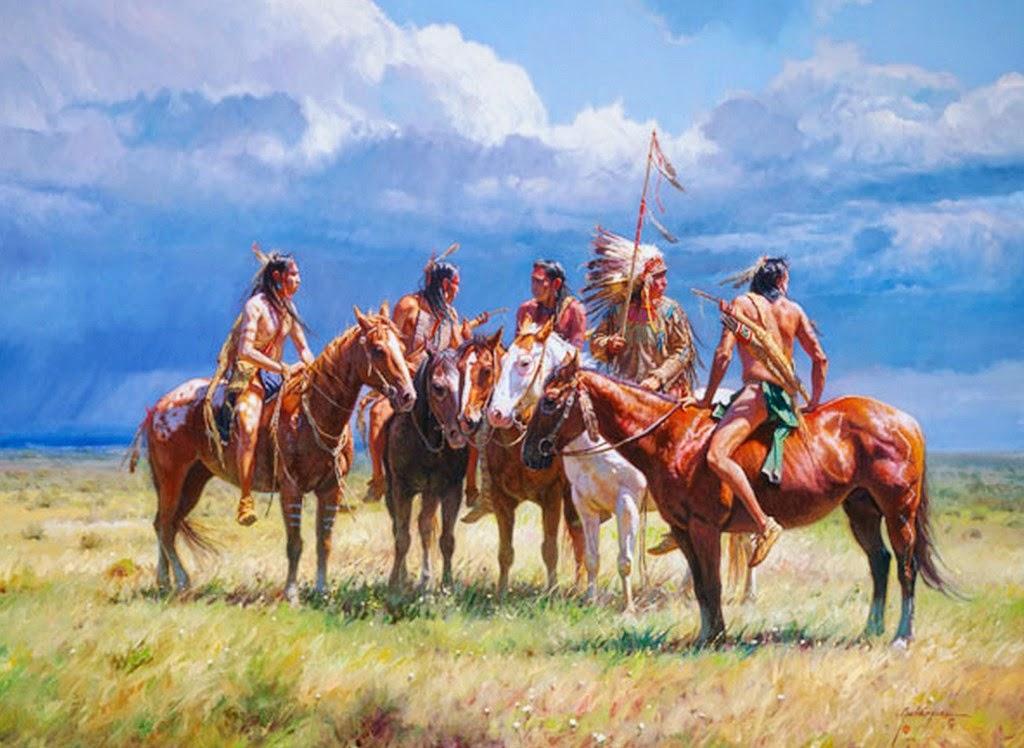 indios-y-caballos-pintados-al-oleo