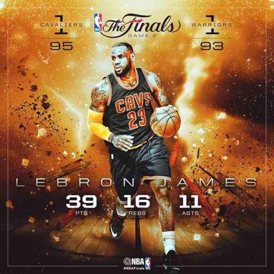 Highlights: Cavaliers ties series at 1 against Warriors in Game 2 of 2015 NBA Finals (+Mini ...