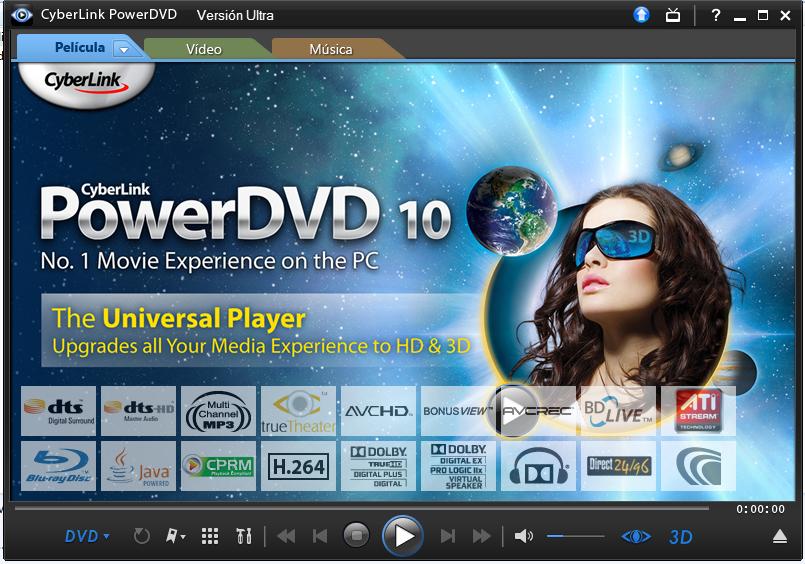 Powerdvd ultra русская версия - dvd-плеер для компьютера.