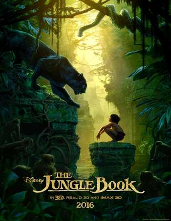 Poster Of The Jungle Book 2016 Dual Audio 300MB HDCAM  Free Download Watch Online