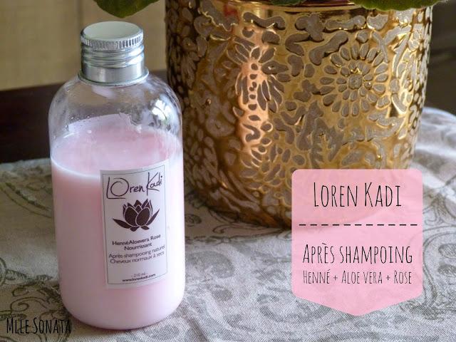Test Après shampoing rose Loren Kadi