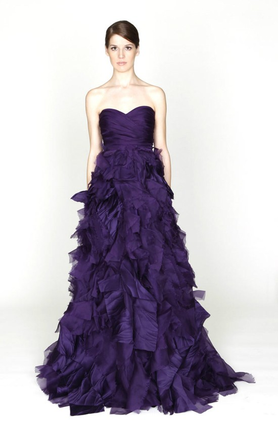 I heart wedding dress purple wedding dress ideas for Wedding dresses with purple trim