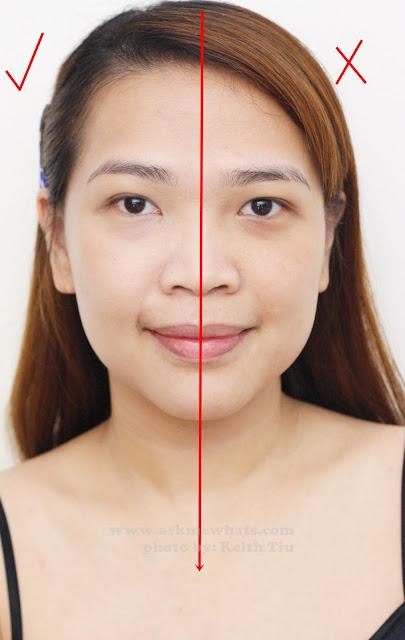 a half face test photo of Etude House Correct & Care CC Cream Silky
