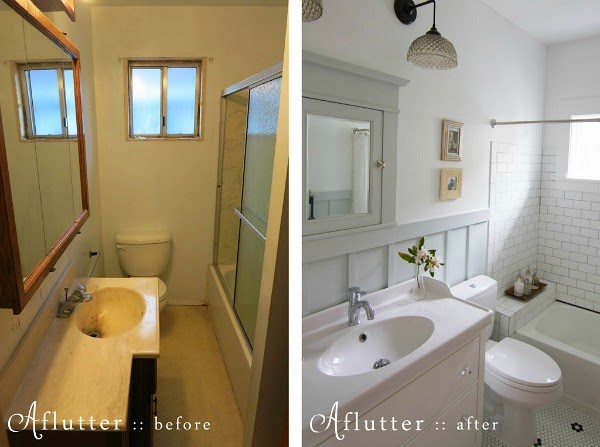 How To Remodel A Small Bathroom Before And After