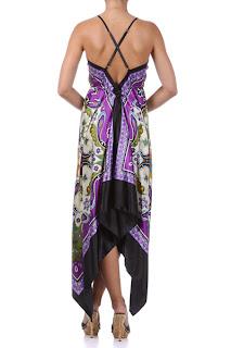 paisley handkerchief dress