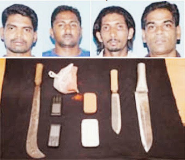 Four Santosh Poojary men arrested with weapons – robbery plan foiled,