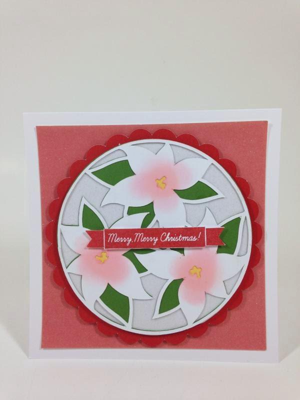 Cricut Holly and Ivy Merry Merry Christmas Poinsettia card