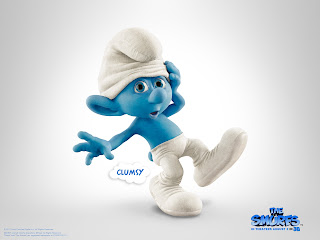 Clumsy The Smurfs Movie HD Wallpaper Poster