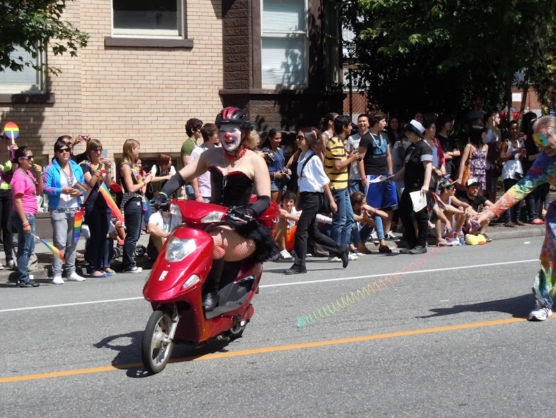 Vancouver Pride Parade clown scooter