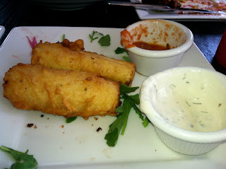 Mozzarella Sticks with hearts of palm at Sage Vegan Bistro