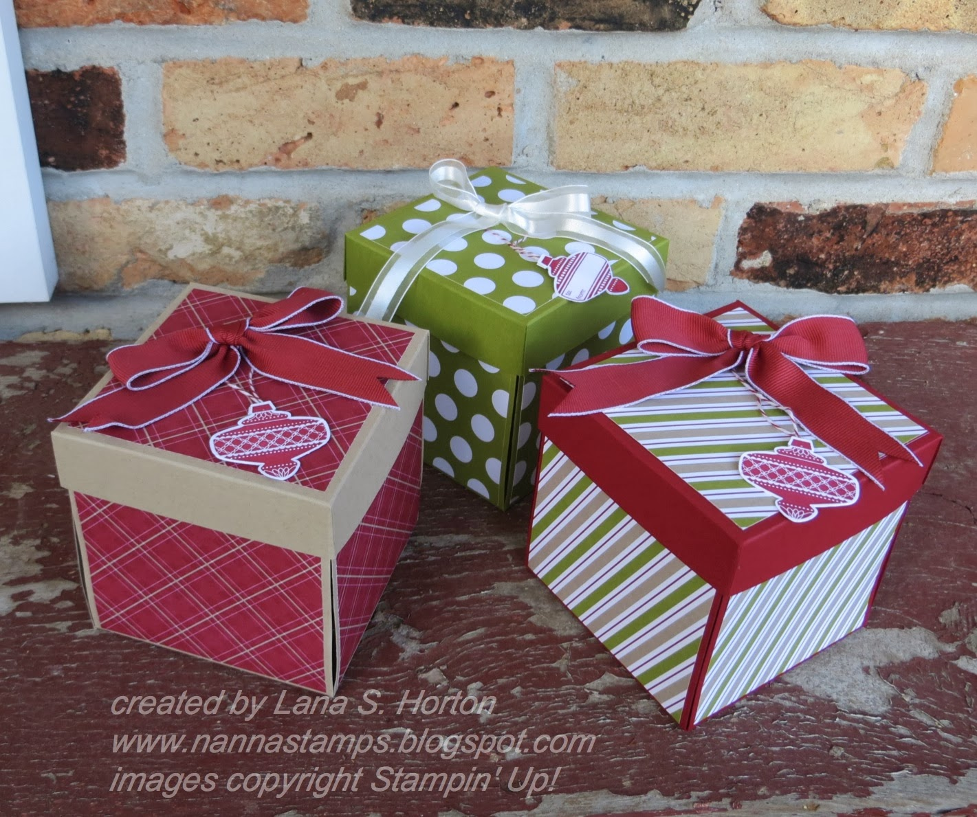 Stampin With Nanna Scrapbook In A Box For Christmas