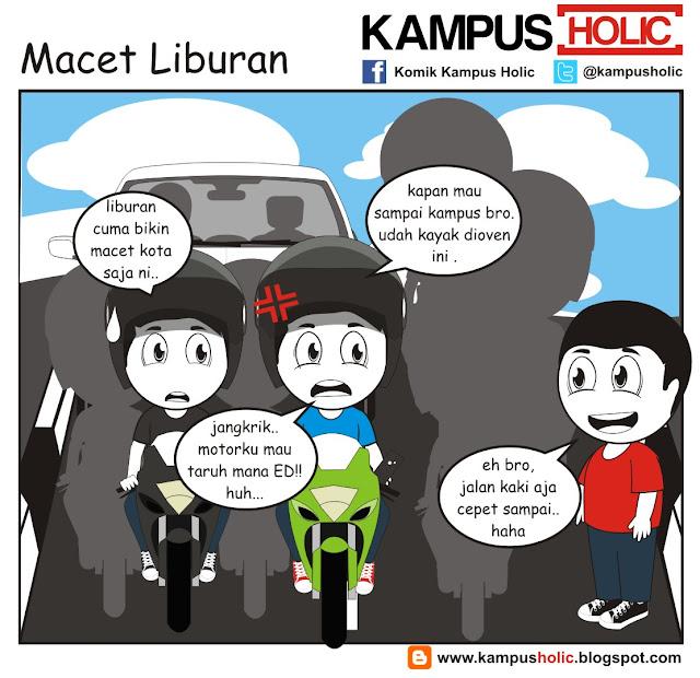 #194 Macet Liburan mahasiswa komik kampus holic