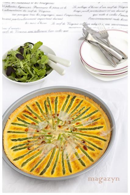 Serowa tarta ze szparagami,taart recepten