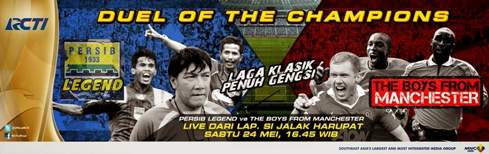 Legenda MU Kalahkan Legenda Persib 5-1