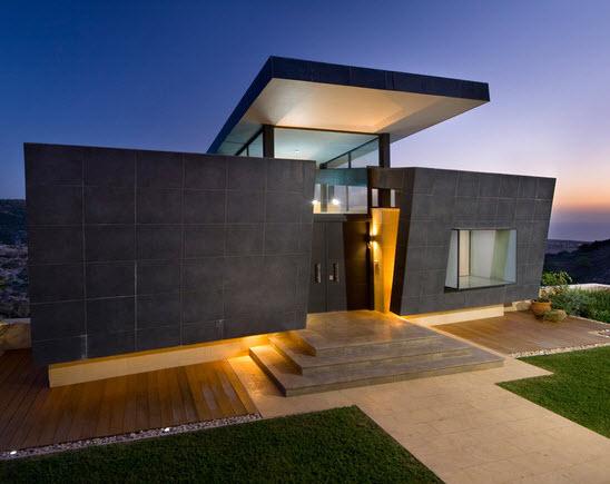 Fachadas de piedra de casas modernas fotos de fachadas for Ambientes de una casa moderna