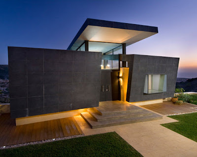 Fachadas de piedra en casa de un piso