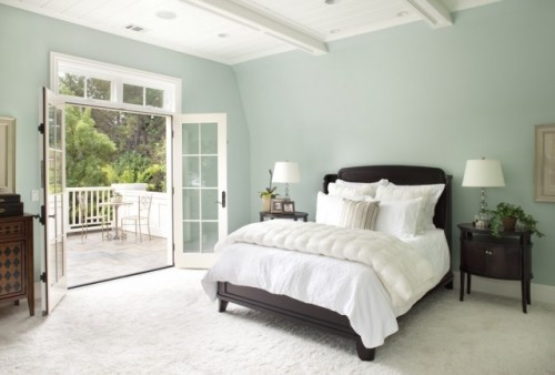 wicker stitch tranquil bedroom colour scheme