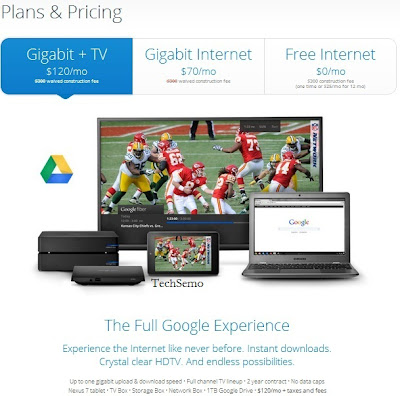 Google Fiber plans and pricing