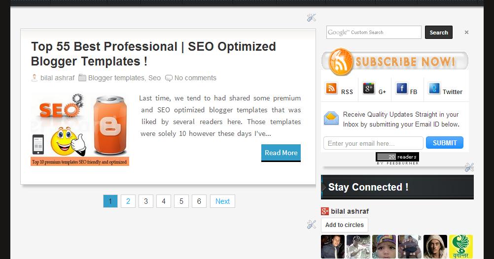 Beautiful ( UTPAKISTAN ) Style SEO Friendly Premium Blogger Template ...