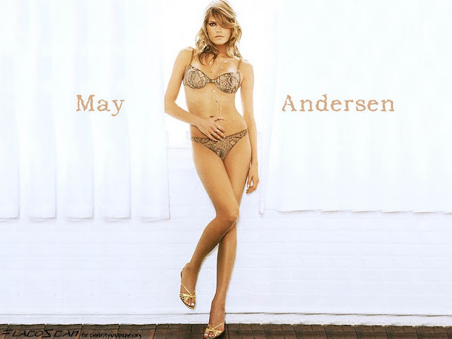 May Andersen Sexy in Lingerie