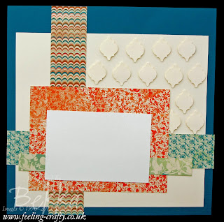 Creating Visual Texture on your Scrapbook Pages using Punched Shapes.  Check this blog every Saturday for Scrapbooking Idedas