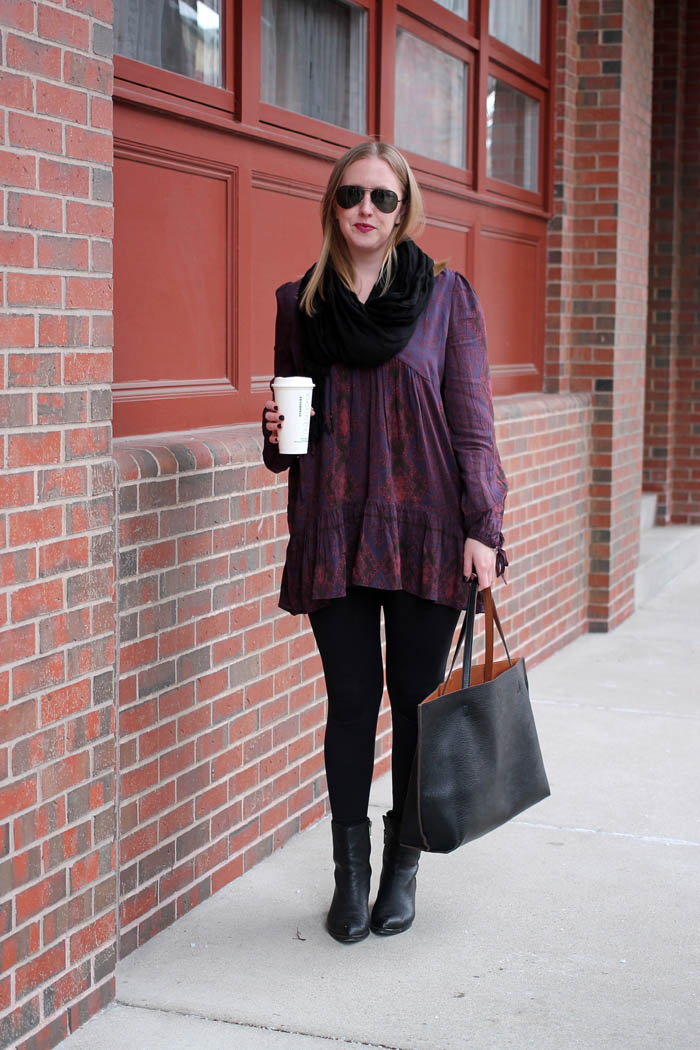 how to take a tunic from day to night, how to style a tunic top, 2 ways to style a tunic top, how to style, free people patterned tunic top, wear your tunic from day to night