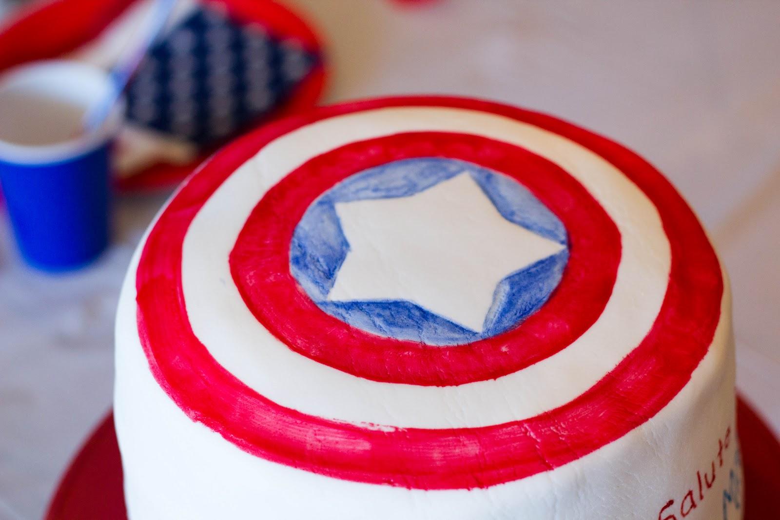 Captain America Cake My Insanity
