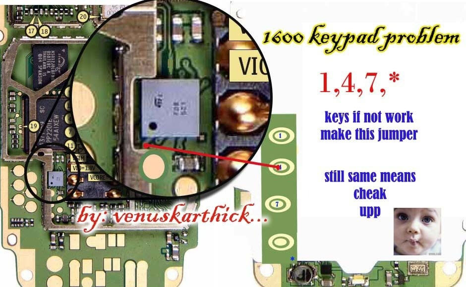 Cell Firmware  Nokia 1600 Keypad Problem Jumpers Solutions