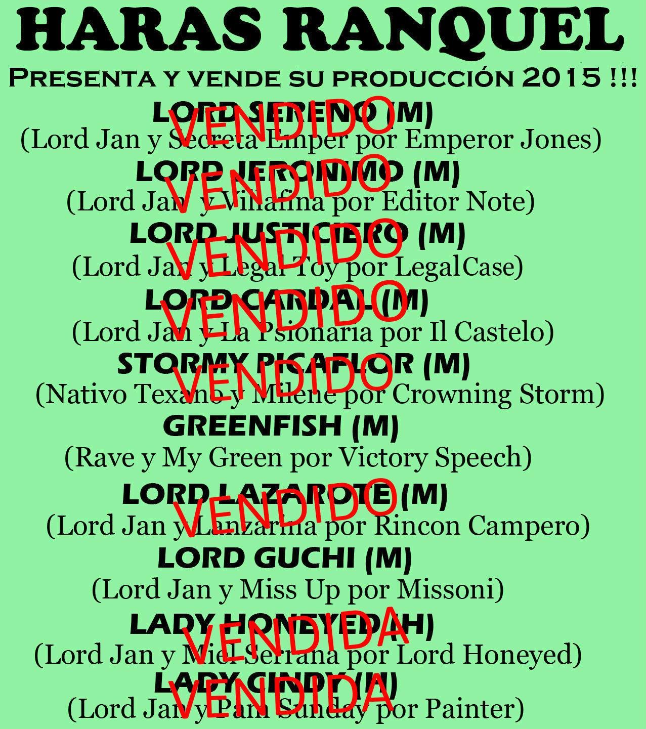 HS RANQUEL PRODUCTOS 2015 1