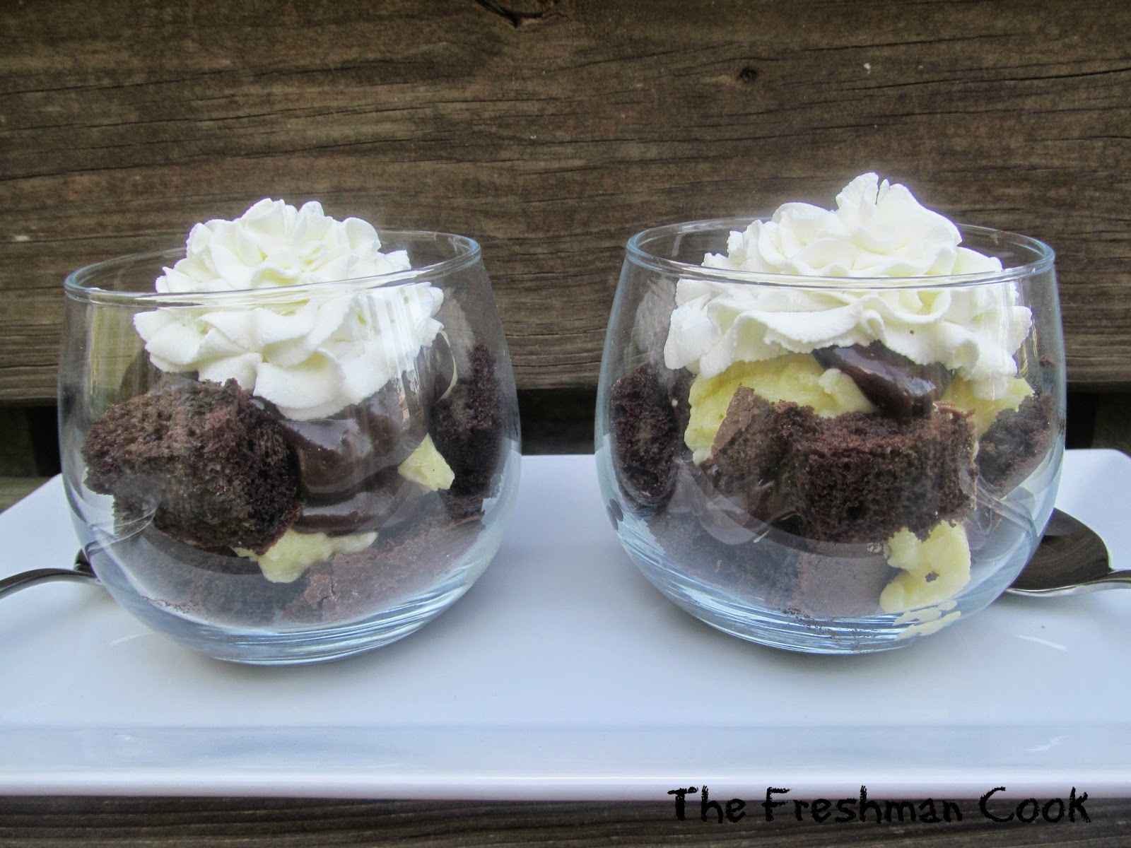Chocolate Boston Cream Pie Trifle